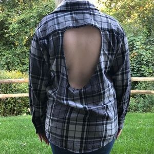 St. John's Bay Gray Flannel with Cut-out Back